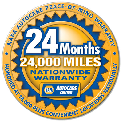 NAPA AutoCare Peace-of-Mind Warranty - 24 Months - 24,000 Miles - Nationwide Warranty - Honored at 14,000 plus Convenient Locations Nationally - NAPA AutoCare Center